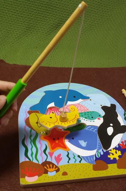 木製パズルシリーズ 2層パズルフィッシング(釣り)