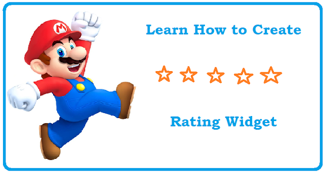 Five star rating widget for blogger