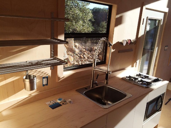 Nomad Homes nomad micro homes tiny house prototype living area humble homes Black Pearl Tiny House By Nomad Tiny Homes Of Austin Texas