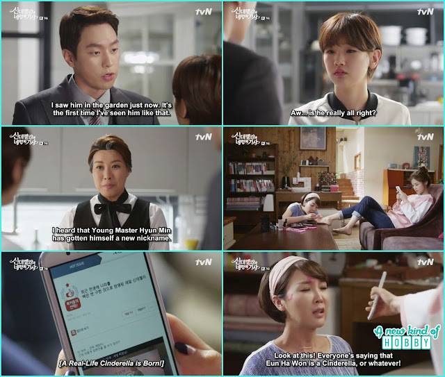 ha won step mother and sister become annoyed when every on praising Ha won on the internet - Cinderella and Four Knights - Episode 7 Review - I Love Her, I Love Her Not