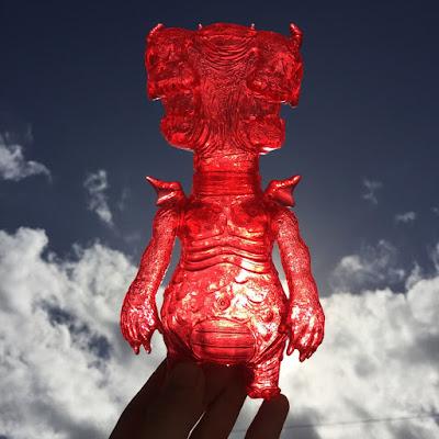"Chauskoskis Exclusive ""Red Cherry"" Anticristo 666 Vinyl Figure by Frank Mysterio"