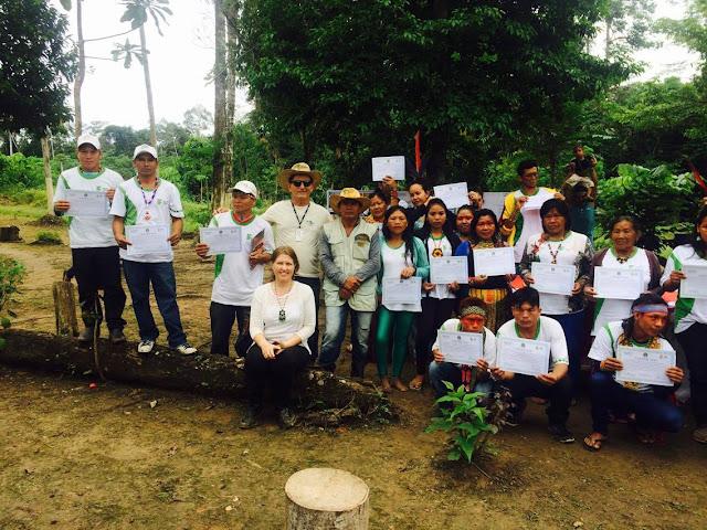 O Instituto Federal do Acre certificou 40 alunos indígenas na Aldeia Shanekaya