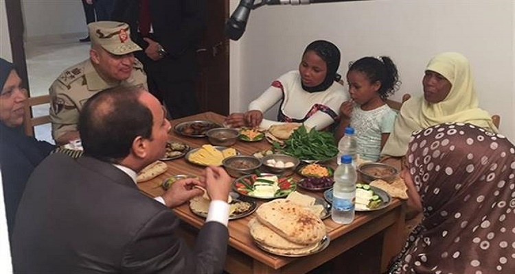 كم تكلفت وجبة إفطار السيسي مع أسرة بسيطة في الإسكندرية