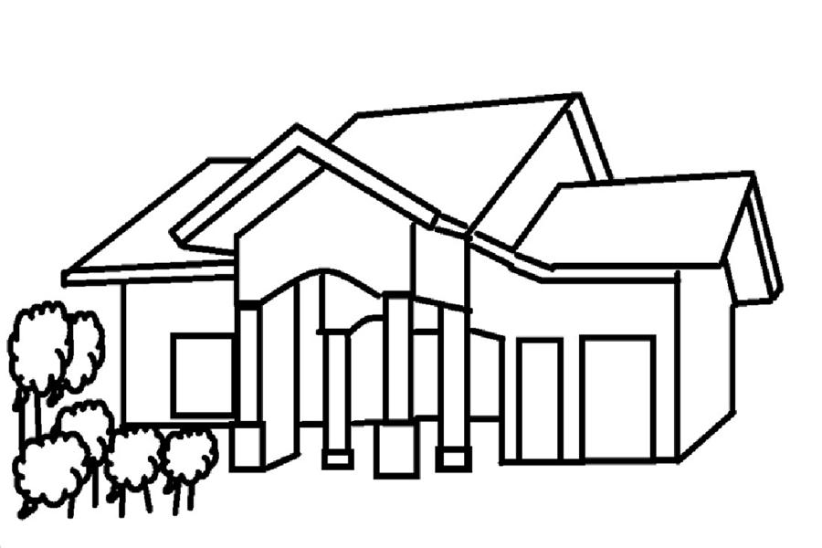 Aneka Sketsa Gambar Mewarnai Rumah Bahasapedia Com Jidiworkoutco