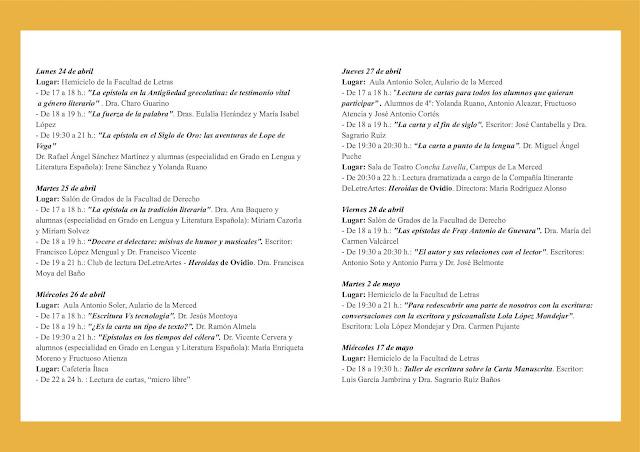 II Semana de la Carta Manuscrita.