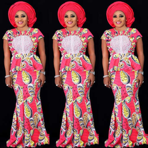 Ankara skirts and blouse style