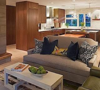 desain ruang keluarga rumah minimalis tanpa sekat | menata