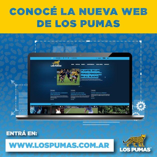 Nueva web para Los Pumas www.lospumas.com.ar
