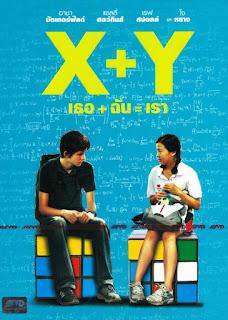 Poster X + Y sentados sobre un cubo de Rubik