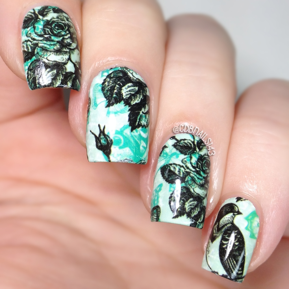 cdbnails: Nicole Diary Nail Wraps | The Lacquer Ring-Floral