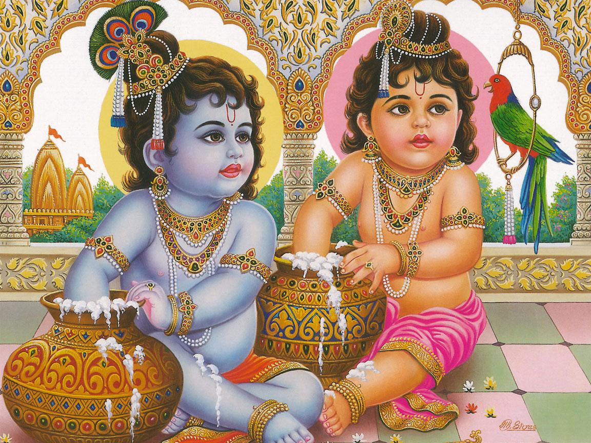 Lord Krishna Balarama Pictures Download