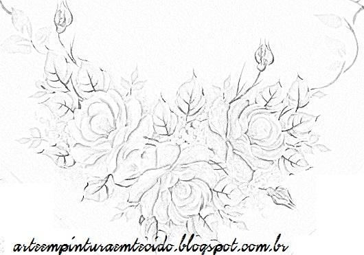 ramo de rosas para pintar.