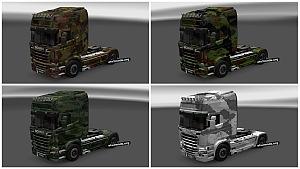 Army Skin Pack for Scania Streamline