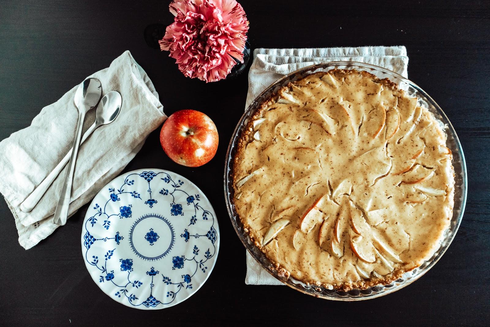 omenapiirakka, piirakka, resepti