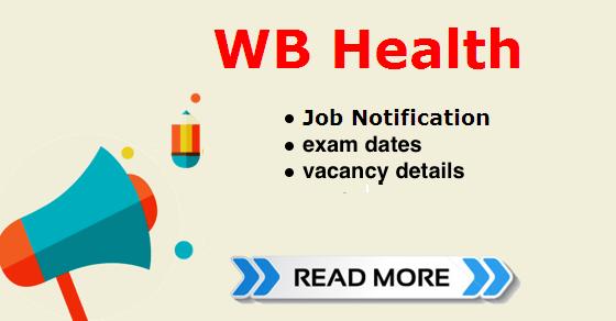 WB health recruitment 2018