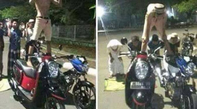 Karena Lakukan Shalat Diatas Motor, Enam Remaja Dari Jawa Tengah Ini Harus Berurusan Dengan Polisi