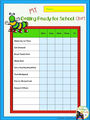 My Getting Ready for School Chart