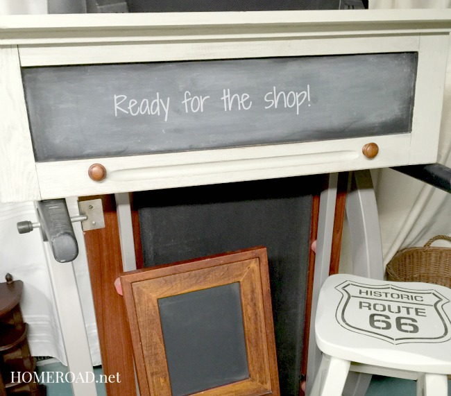 Repurposed Vintage Cabinet Door Makeover www.homeroad.net