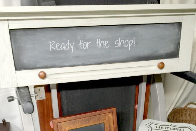 Repurposed Vintage Cabinet Door Chalkboard