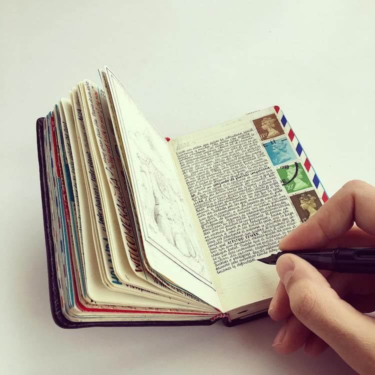 The Beautifully Detailed Pages Of A Well-Traveled Artist's Pocket-Sized Notebooks