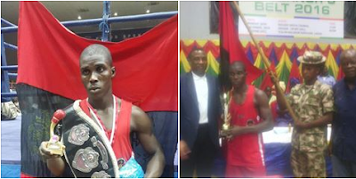 Nigerian Soldier Wins Lagos State Governor's International Boxing Tournament. Photos