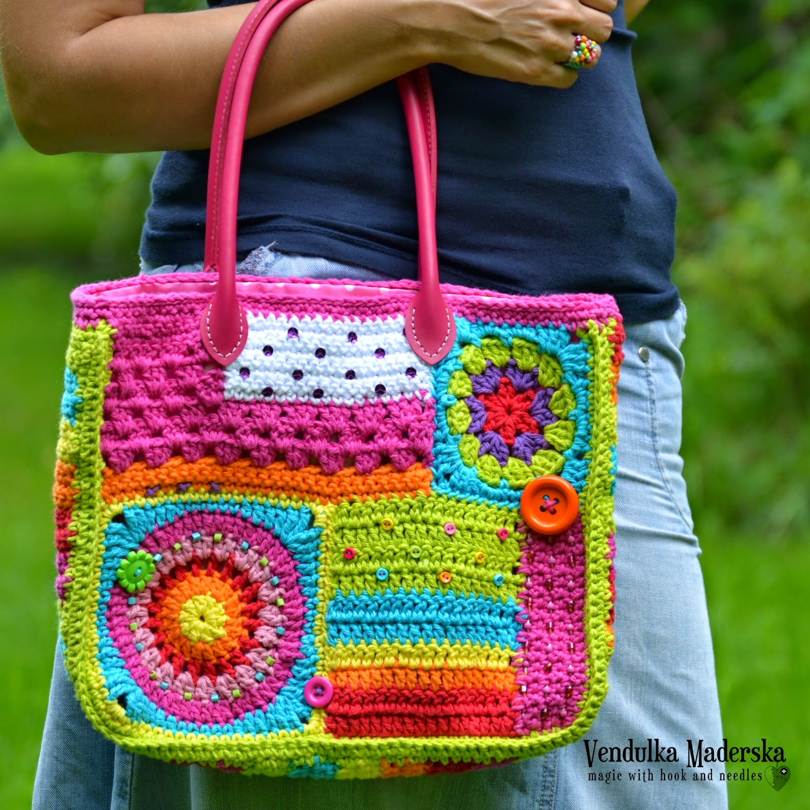 Crazy rainbow bag pattern