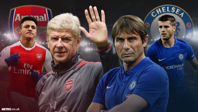 Prediksi Chelsea vs Arsenal Minggu 17/9/2017
