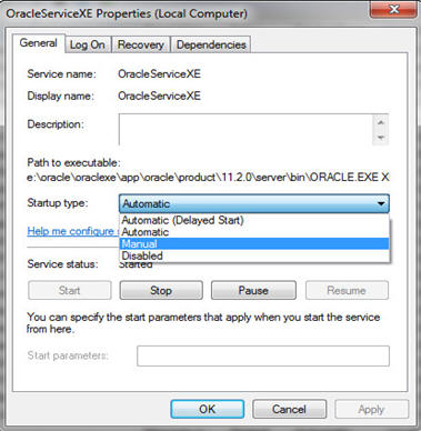 Oracle Database 11gXE System Management On Microsoft Windows