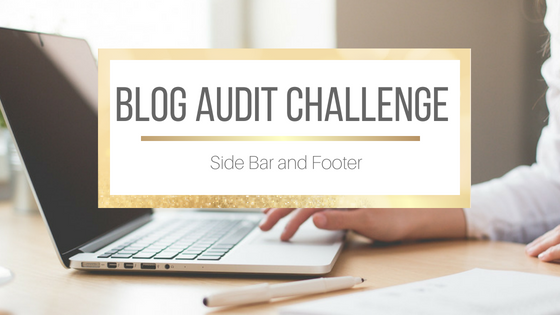 Blog Audit Challenge: Side Bar and Footer