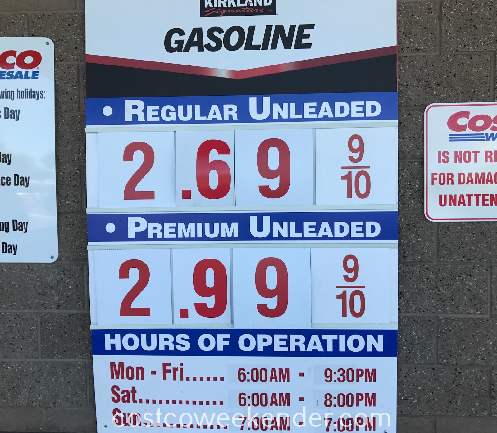 Costco gas for July 16, 2017 at Redwood City, CA