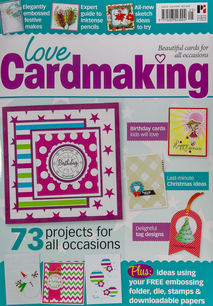 I was published - Love Cardmaking