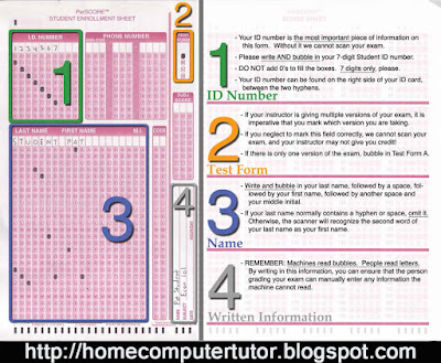 Scantron printable