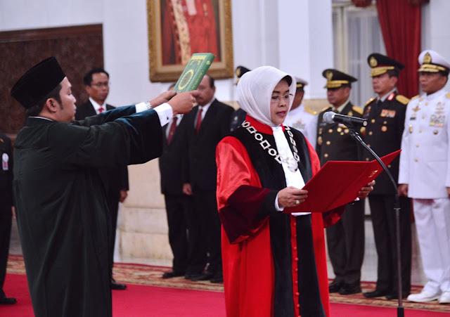 Enny Nurbaningsih Dilantik Jadi Hakim Konstitusi Gantikan Maria Farida