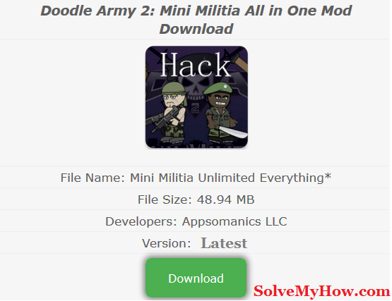 Mini Militia Hack How To Hack Mini Militia In 2 Minutes