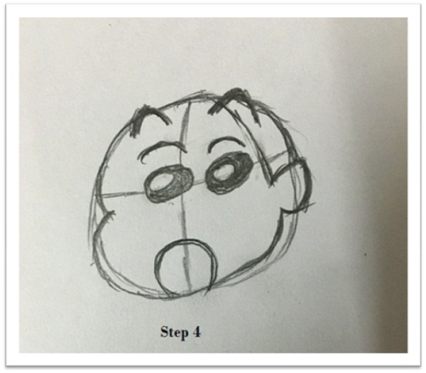 draw shin chan drawing