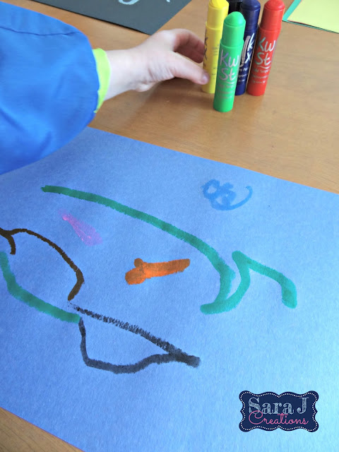 Painting made easy for kids.  No mess but still all the fun. Kwik Stix are easy to use tempera paint sticks.