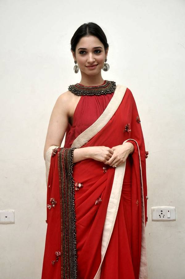 Tamanna Latest Hot Photos In Orange Saree