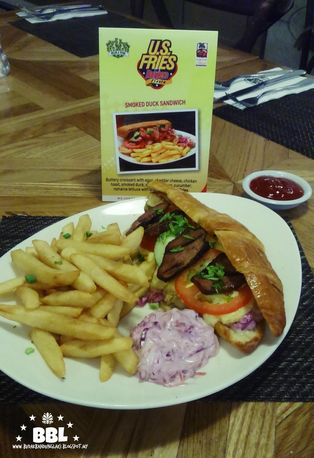 Menu Terbaru Melur & Thyme Sempena U.S Fries & Burgers ...