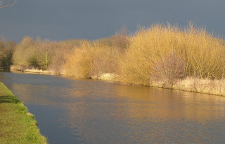 Winter sun lighting the Bridgewater Canal