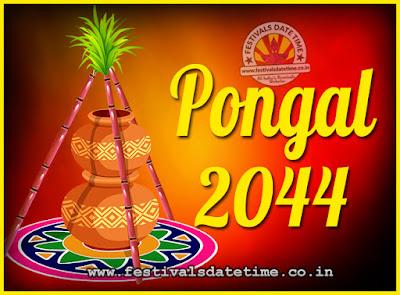 2044 Pongal Festival Date & Time, 2044 Thai Pongal Calendar