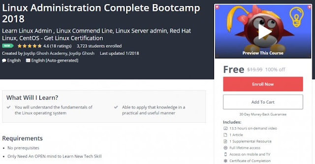 [100% Off] Linux Administration Complete Bootcamp 2018| Worth 19,99$