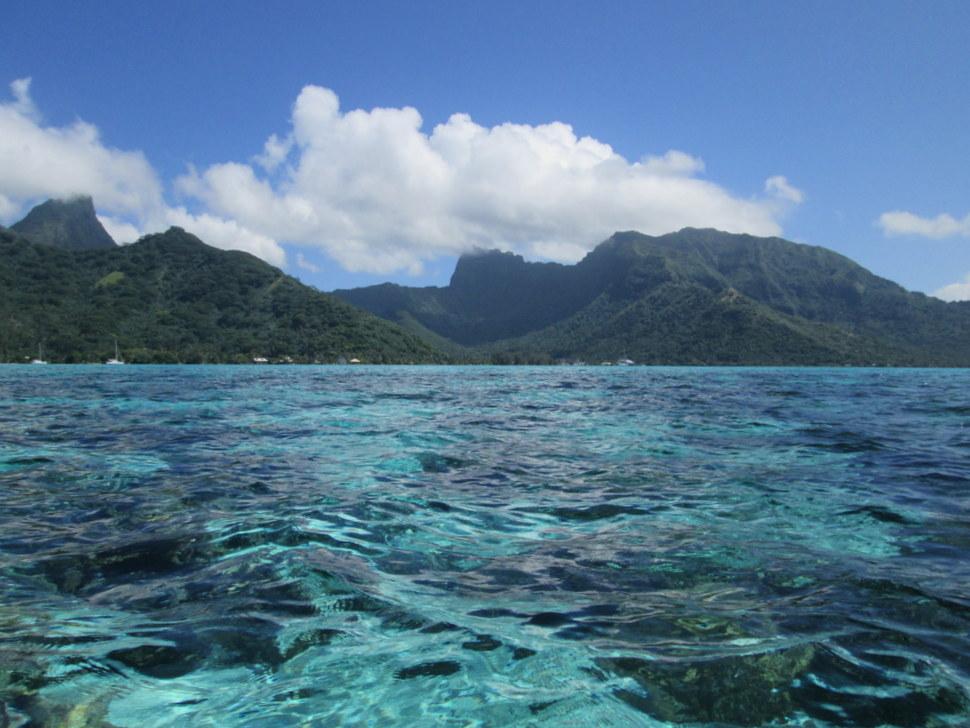 Baie de Vaiare vue du lagon de Moorea