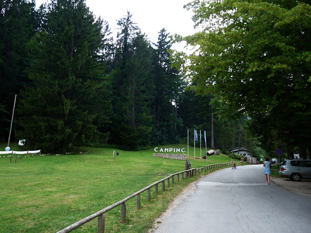 Foto de la entrada al Camping Bled. Ruta en autocaravana por Eslovenia | caravaneros.com