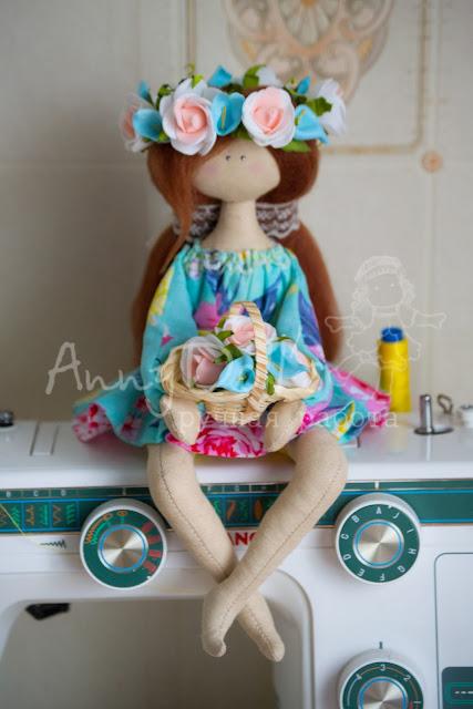 МК по пошиву сидячей куколки.Авторская выкройка.