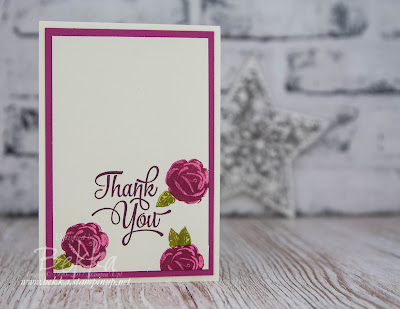 Icing On The Cake Thank You Note Card Set featuring Stampin' Up! UK Icing On The Cake Stamps which you can buy here.