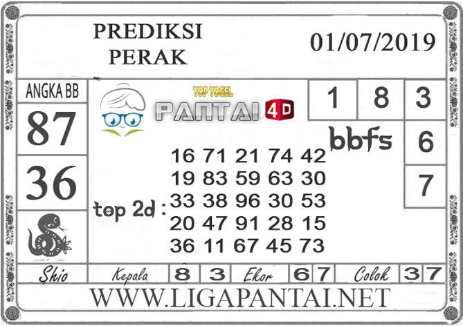 """PREDIKSI TOGEL """"PERAK"""" PANTAI4D 1 JULI 2019"""