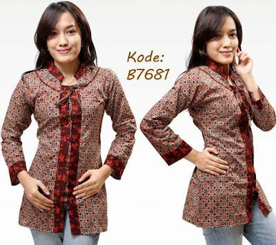 Desain Baju Batik Kantor