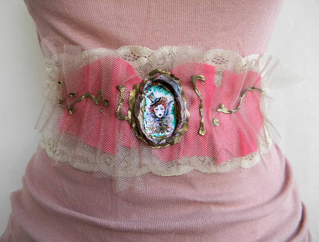 Unique Handmade Sash Waist Belt Lace Belt Fashion Original Handcrafted Accessories