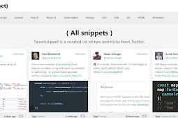Kumpulan tweet seputar pemrograman web di tweetsnippet