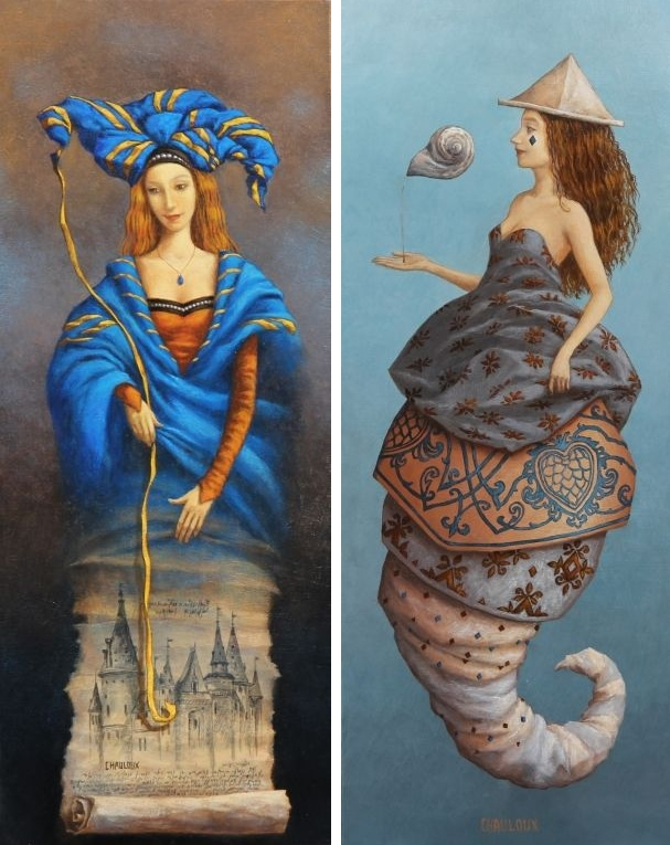 13-The-Manuscript-Lady-And-The-Perfume-Catherine-Chauloux-Paintings-of-Surreal-Worlds-and-Characters-www-designstack-co